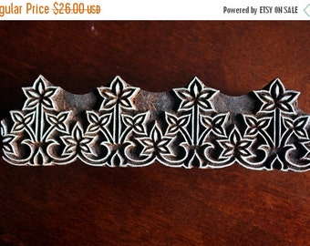 THANKSGIVING SALE Wood Block Stamps, Indian wood stamps, Pottery Stamps, Textile Stamps- Decorative Leafy Border