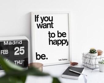 Be Happy PRINT. A3