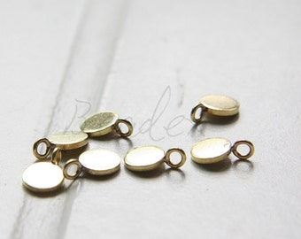 10 Pieces / Raw Brass / Round / Disc / Coin / Blank - 6mm (C3202//-F51)