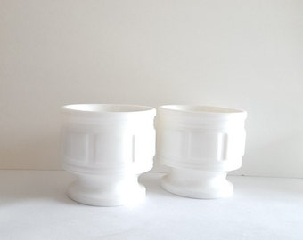 Milk Glass Pillar Vase 2-Piece Set: White, Vanity, Beauty, Collectible, Flower, Wedding Centerpieces