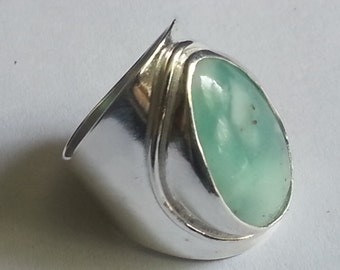 Peruvian Opal Ring Size # 7 Sterling Silver Andean Opal