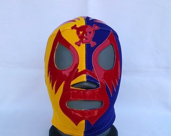 Mil Mascaras Skull Wrestling Mexican mask Mardi Gras day of the dead halloween party masks Horror movie masquerade Mexican mask luchador