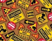 Dig It, Signs and Cones, Quilting Treasures, 1/2 Yard