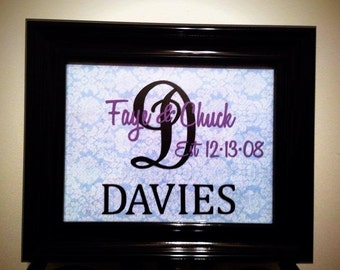Personalized Last Name Frame