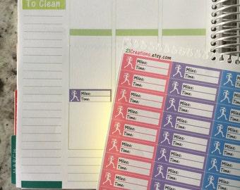 Running Planner Stickers, Running Tracker, Erin Condren Stickers, Coil Sticker Insert - 0023