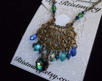 Boho Gypsy Style Crystal Necklace