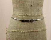 Silver Belt * Metal Belt * Stretch Belt * 70s Belt * Retro Belt * Thin Belt * 1970s Belt * Small