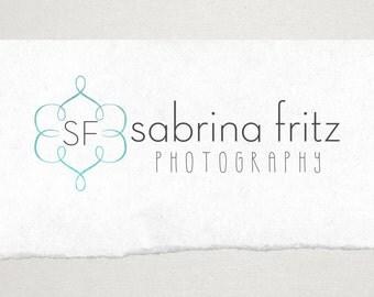 Premade Logo // Logo Design // Business Logo //  Photography Logo // Watercolor Logo // Monogram Swirl Logo
