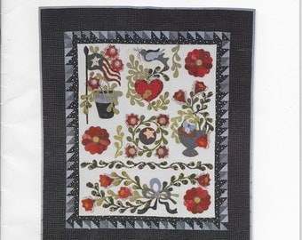 LIBERTY GARDEN applique pattern book for quilted projects.