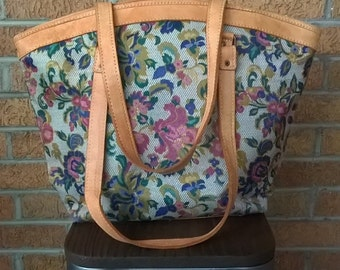 Vintage Large Carry On Tote Luggage Bag