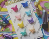 90s Glittery Butterfly Clips (pack of 8)
