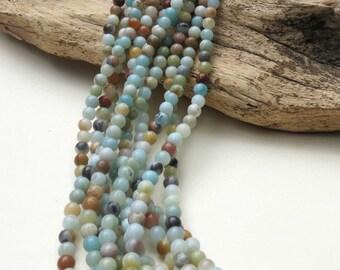 Amazonite - 6mm - Round - 15 Inch Strand of 62 Beads