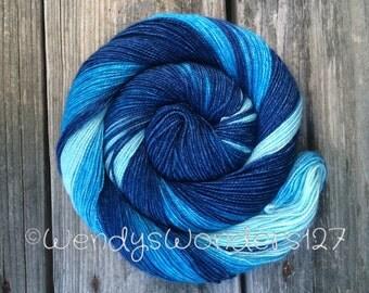 Gradient Dyed Yarn, Hand Dyed Yarn, Merino/Silk, 600 yards, Shawl Yarn