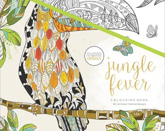 Adult Coloring Book - Jungle Fever - 40 Rainforest Themed Designs - KaiserColour Perfect Bound Coloring Book (527715)