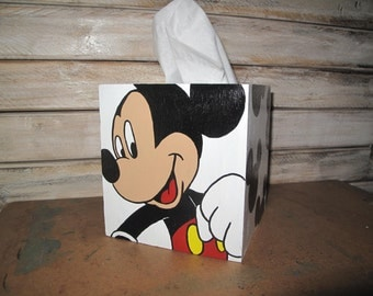 Hand painted Mickey Mouse tissue box cover
