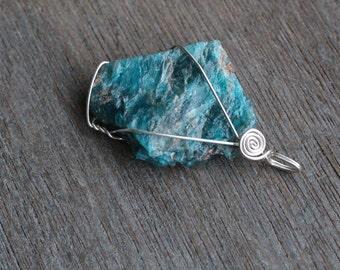 Apatite Sterling Silver Pendant #5341