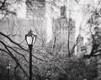 Black and White New York City Print or Canvas Art, Central Park Photo, Upper East Side Print, Urban Decor, Modern Decor, Grey.