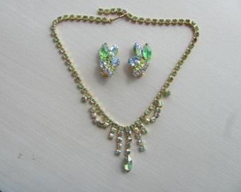 Vintage Juliana Rhinestone Necklace Set