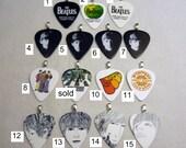 Beatles Guitar Pick pendants