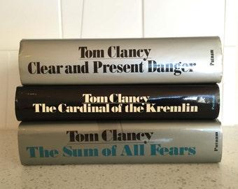 Clancy - fest!  Three big hardbound Tom Clancy thrillers, mysteries, spy fiction