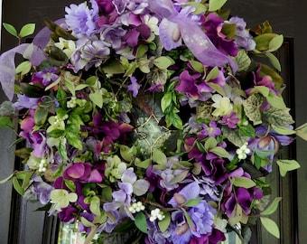 Summer Wreath ,Floral Wreath ,  Wreath , Door Wreath , Wreath, Summer Door Wreath , Outdoor Wreath , Wreath For The Door