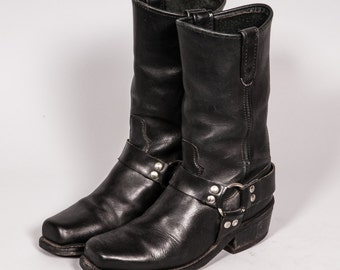 Black Motorcycle Boot Men's Size 8 .5