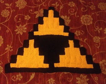 READY TO SHIP Triforce Crochet Rug Legend of Zelda Nintendo Video Game