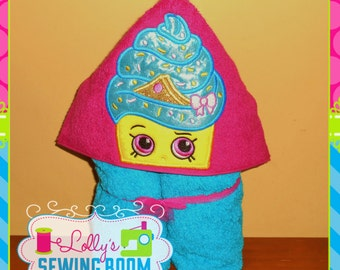 Shopkins Cupcake Queen hooded towel - can be personalized