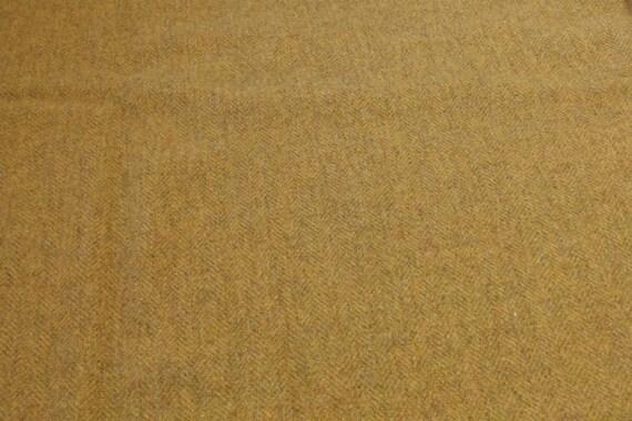 Golden Herringbone Wool Fabric for Rug Hooking and Appliqué, Mill Dyed, One yard, Half Yard, Quarter Yard, W134
