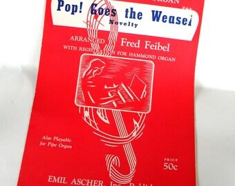 Pop Goes the Weasel Sheet Music- Popular Children Nursery Rhymes Songs- Americana