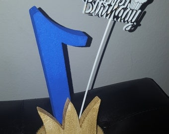 Styrofoam number birthday cake topper centerpiece