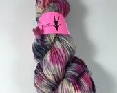 Worsted Single, Hand Dyed Yarn , Merino, worsted weight, single ply, singles, merino wool, variegated yarn, Long Distance Train Ride