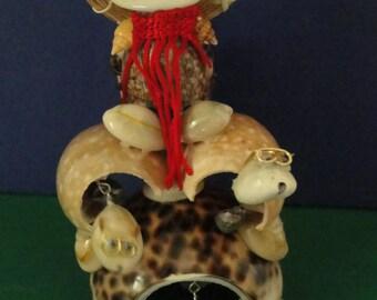 Sea Shell Seashell Triple Turtle Rider Figurine