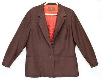 FREE SHIPPING! Vintage New Old Stock Men's LEVI'S Lined Brown Retro Blazer Dress Jacket Coat 44