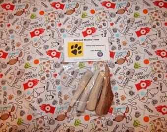 4 Organic Small Deer Antler Dog Chews (Lot C16)