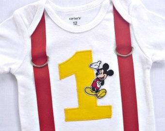 Micky Mouse Inspired Birthday Shirt / Bodysuit