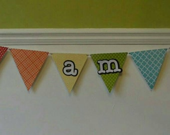 I am one banmer, I am one bunting, first birthday banner, First birthday bunting, Rainbow party