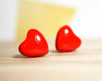 Valentine's Petite Heart Post Earrings