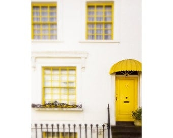 "Notting Hill art print, London photography, London house print, large photography - ""London Sunny Side Up"""