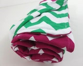 chevron baby blanket. two sided Swaddle blanket for baby. choose any two chevrons soft jersey knit like a t-shirt