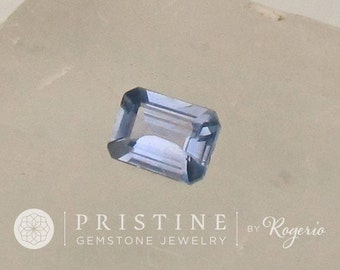 Natural Blue Sapphire Emerald Cut Shape for Fine Gemstone Jewelry or Custom Engagement Ring