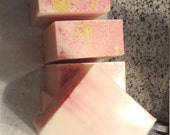 idlewild - a rose and gold creme brulee soap for autumn or anytime