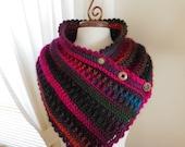 Hand crochet Scarf/Neck Warmer, Crocheted Scarf/Cowl