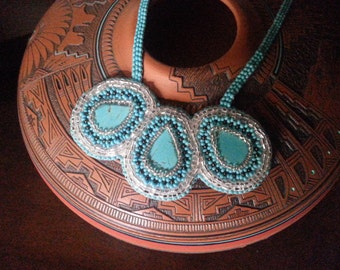Navajo Torquoise Beaded Necklace