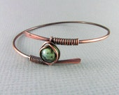 Copper Bracelet Wire Wrapped Bracelet African Turquoise Wire Wrapped Bangle Copper Bangle Wire Wrapped Jewelry