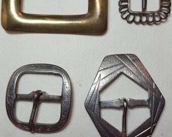 4 Vintage Belt Buckles