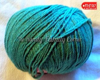 Viscose Stretch - elastic yarn. Spandex, Stretchy, Springy yarn, marina color Teal color (515). Lycra yarn.