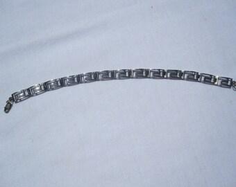Sterling Greek Key Bracelet