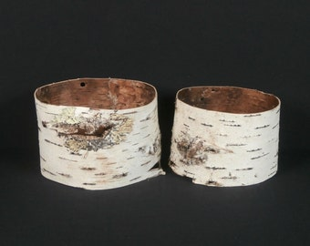 2 Birch Bark Tubes .... Natural Decor