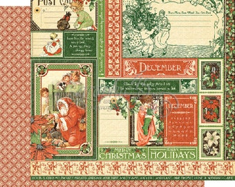 """Graphic 45's """"Children's Hour"""" Both December 12x12 Pages  ** See Discounted Shipping Note**"""